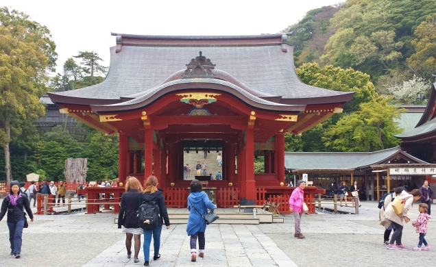 The stage where kagura dances and other performances are done.