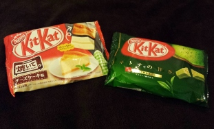 """a special """"bakeable"""" plain cheesecake and matcha"""